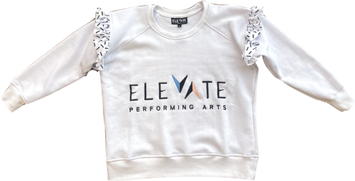 Frill Sweater (White) - $44 (Child) / $46 (Adult)