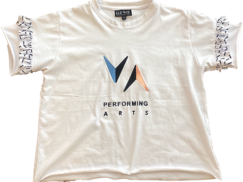 T-Shirt with Frill - White