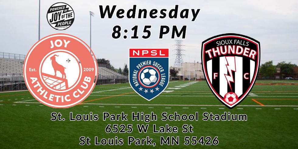 Joy Athletic Club vs Sioux Falls Thunder FC