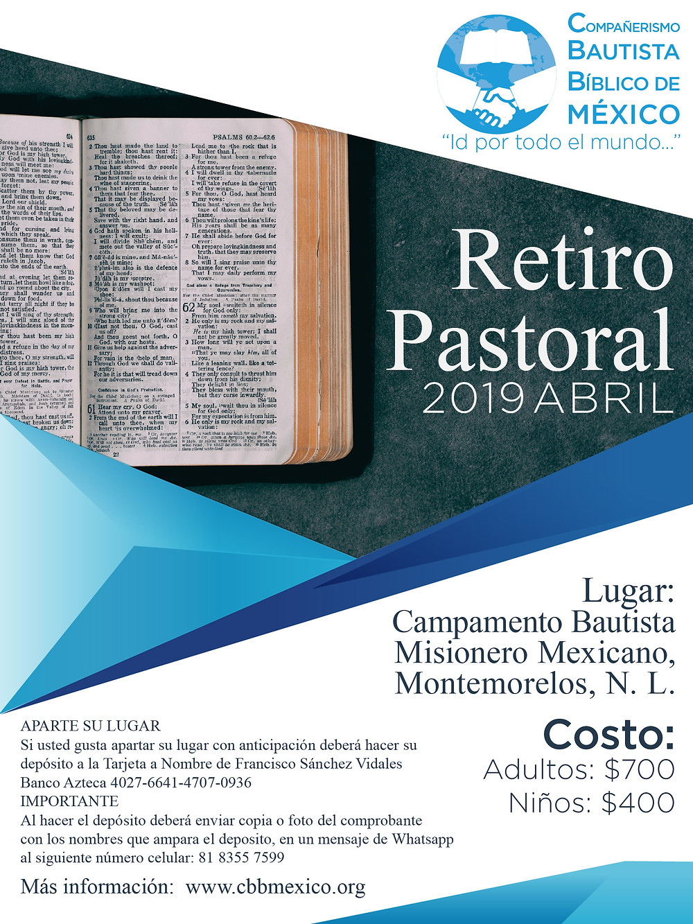 Retiro Pastoral - Abril 2019
