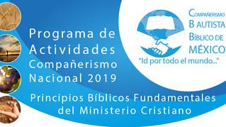 Programa de Actividades del Compañerismo Nacional 2019