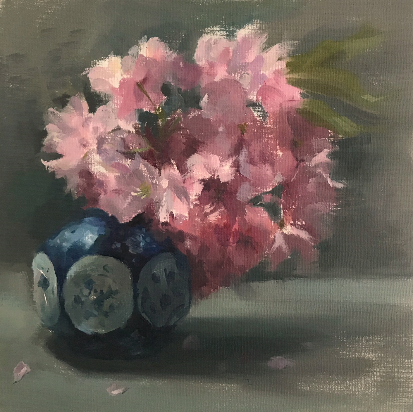Cherry Blossom & Chinese Pot