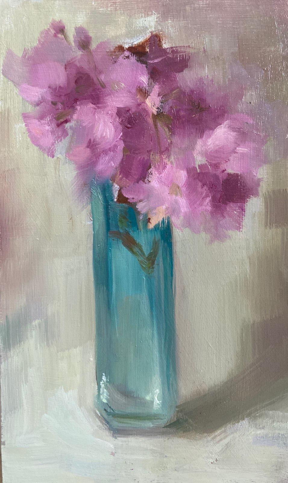 Cherry Blossom & Blue Glass