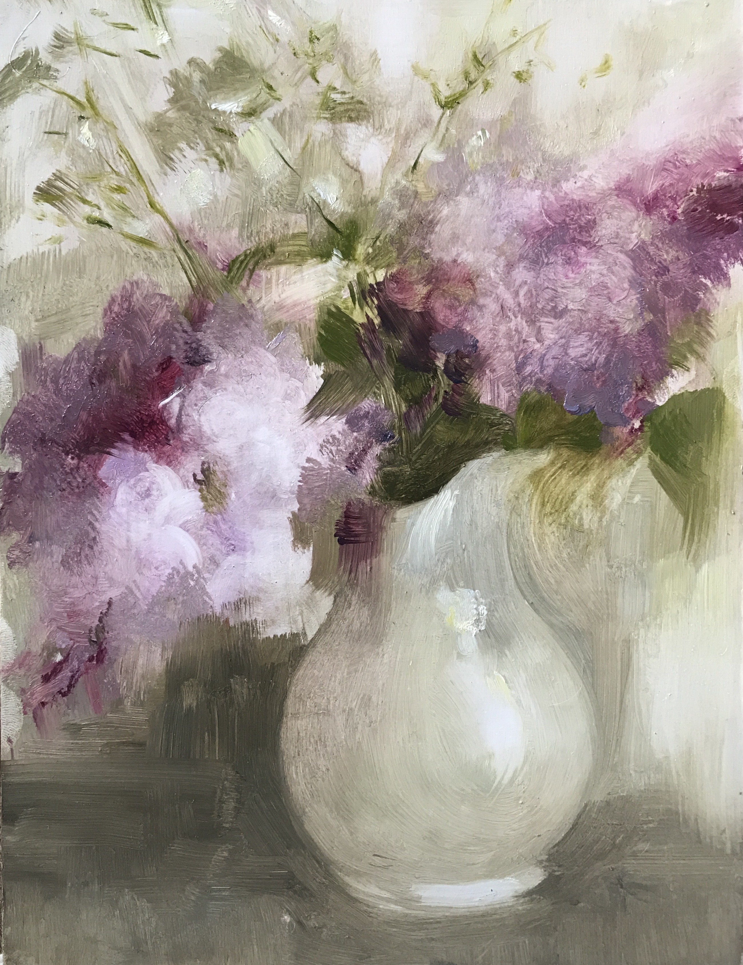 Lilac & White Ceramic