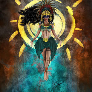 Aztec Warrior Princess Poster Art