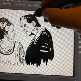 Frankenstine and Bride