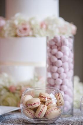 Vanilla Macarons & Strawberry BonBons