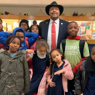 Boston Police Commissioner Gross and Roxbury YMCA  kids