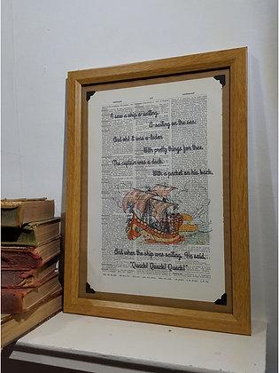 I Saw a Ship Framed Dictionary Print