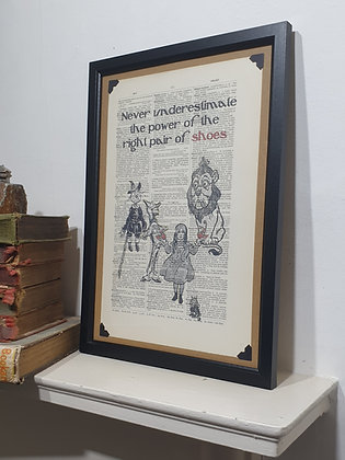 Oz Shoes Framed Dictionary Print