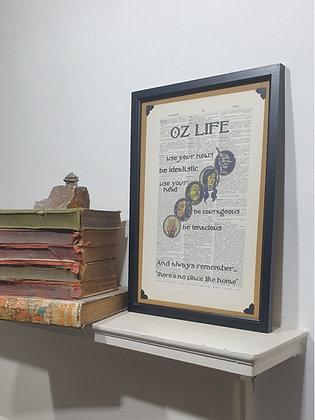 Oz Life Framed Dictionary Print