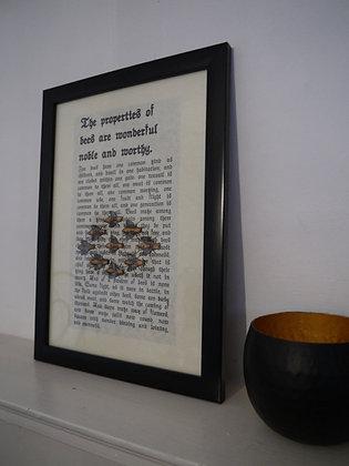 Noble Bee framed print