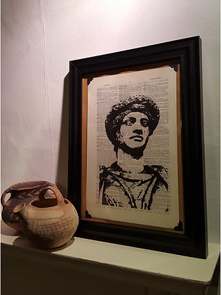 Roman Framed Dictionary Print