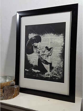 Wind Song Framed Dictionary Print