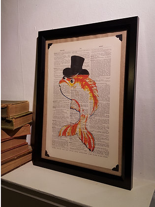 Fish Framed Dictionary Print