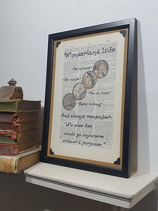 Wonderland Life Framed Dictionary Print
