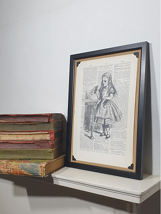 Alice Drink Me framed dictionary print