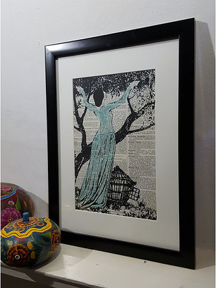 Lady Liberty Framed Dictionary Print