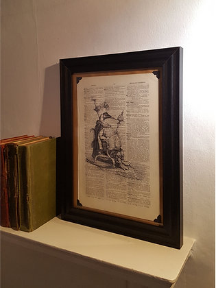 The Great Auk Framed Dictionary Print