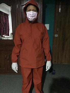 Beni in new designed Virus Dress.JPG