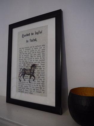 Joyful Horse framed print
