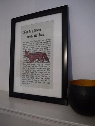 Flighty Fox framed print