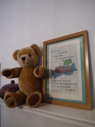 The Jumblies framed dictionary print