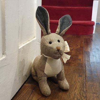 Tweed Rabbit Doorstop