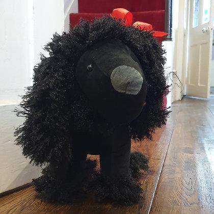 Black Poodle Doorstop
