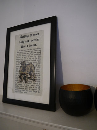 Witty Hound framed print