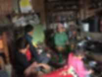 Widow with 3 children live in small kitc