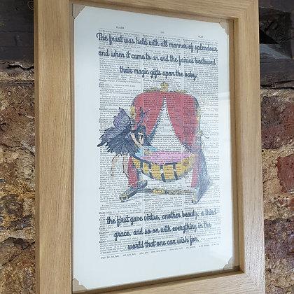 The Sleeping Beauty framed dictionary print