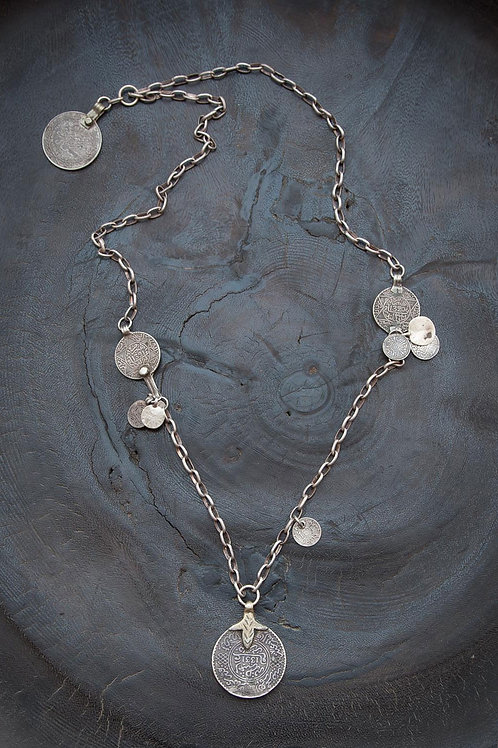 Long Moroccan Coin Necklace