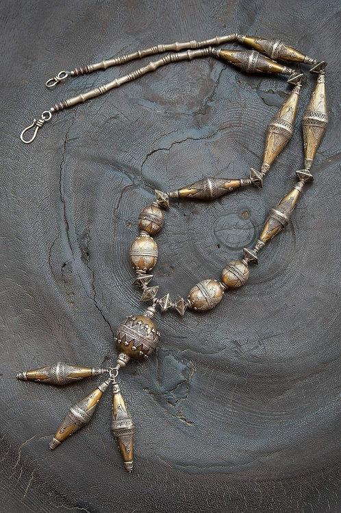 Afghan Gold-washed Bead Necklace