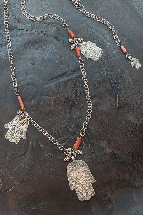 Long Hamsa Necklace