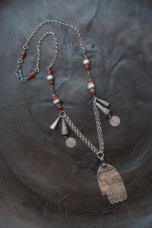 Tribal Hamsa Necklace