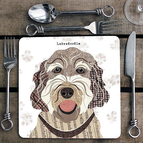 Labradoodle Placemat/Coaster