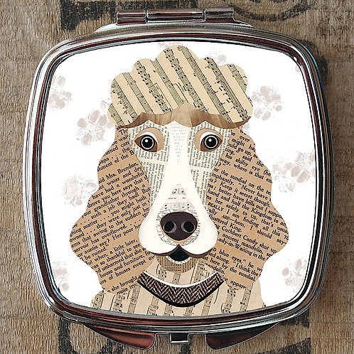 Poodle Compact Mirror