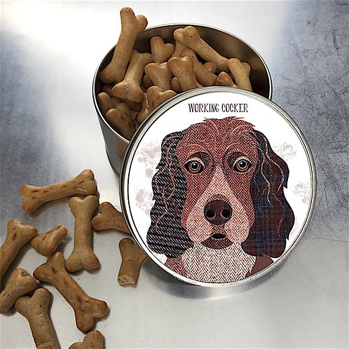 Working Cocker Dog Tin