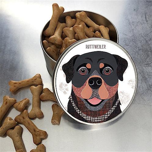 Rottweiler Dog Tin