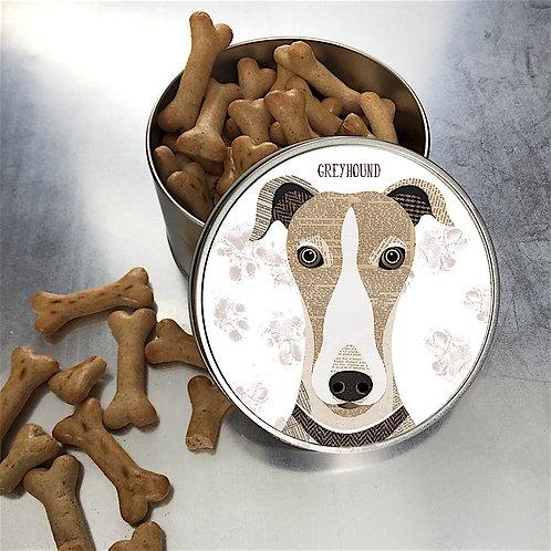 Greyhound Dog Tin