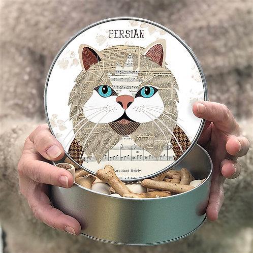 Personalised Persian Cat Tin