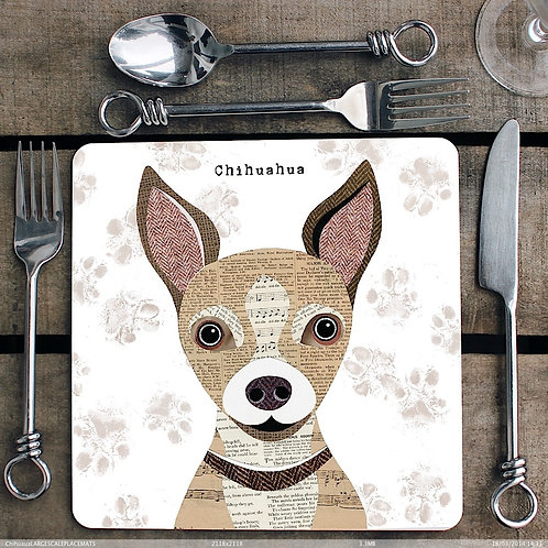 Chihuahua Dog Placemat/Coaster