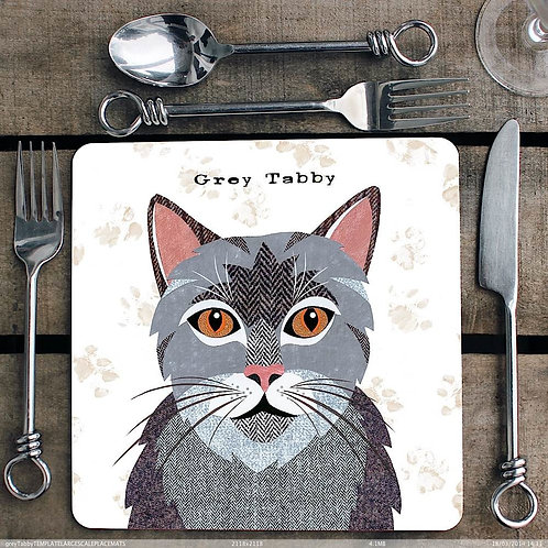 Grey Tabby Placemat