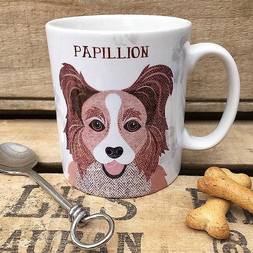 Papillion dog mug