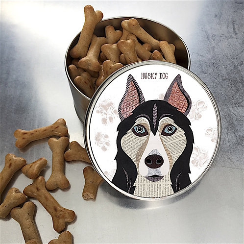 Husky Dog Tin