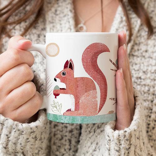 Squirrel Personalised Mug