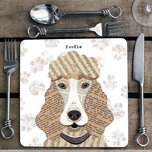 Poodle Placemat/Coaster