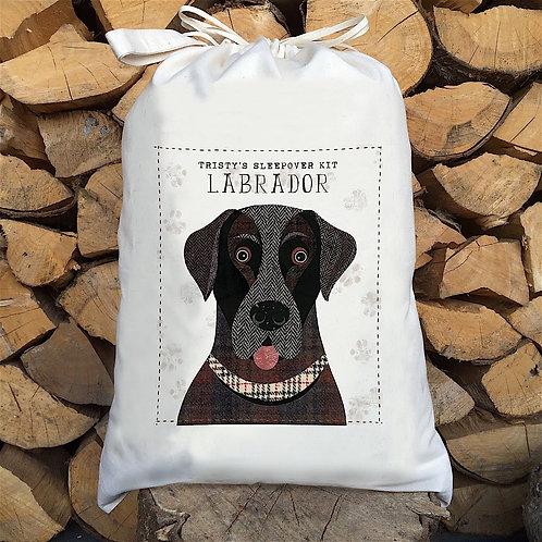 Labrador Dog Personalised Large Drawstring Sack