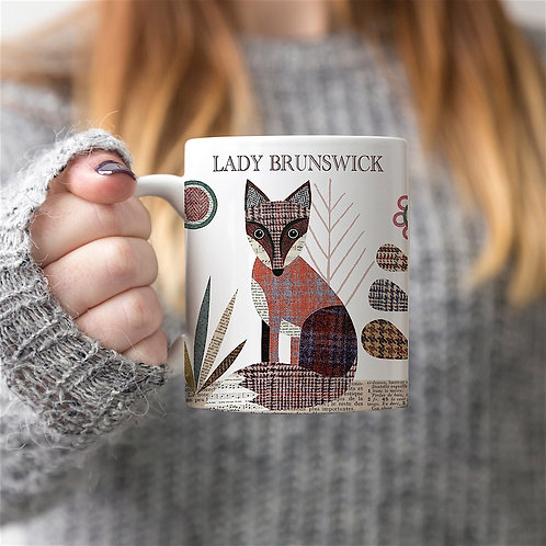 Tweed Fox Personalised Mug